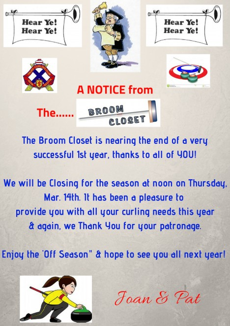 Broom Closet End of Year